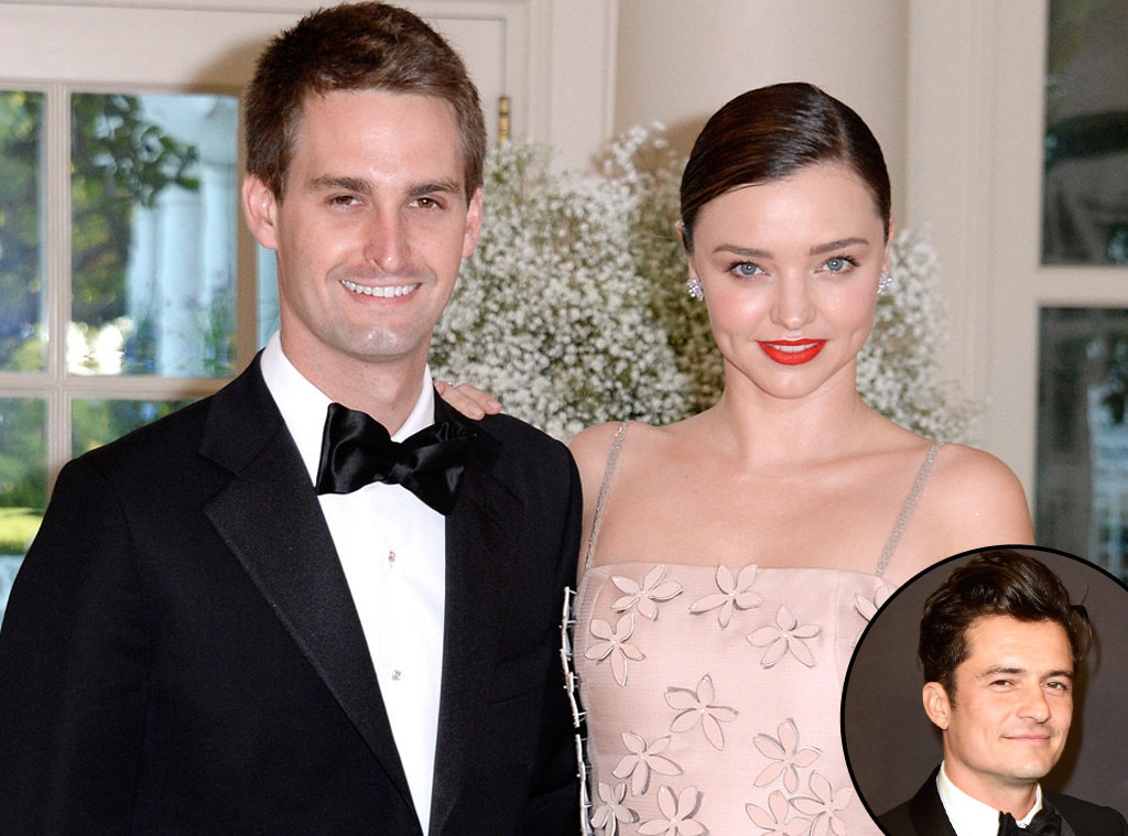 Orlando Bloom is happy at the engagement of his ex-wife Miranda Kerr and her future husband Evan Spiegel
