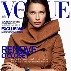 Adriana Lima, Vogue Brazil Cover, August 2016