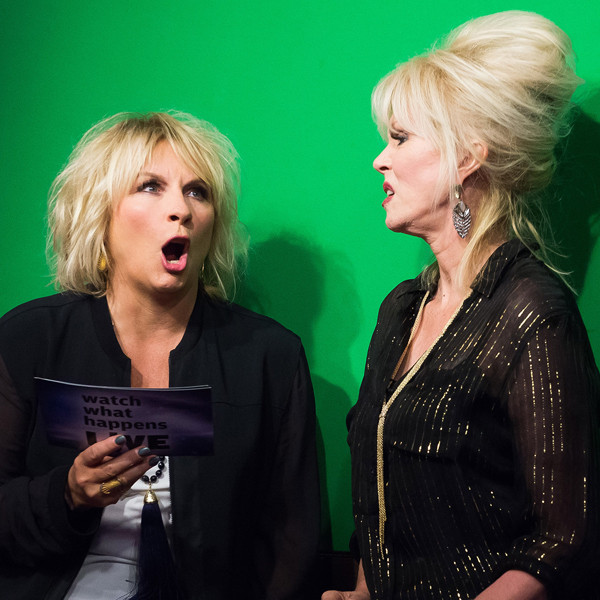 Joanna Lumley, Jennifer Saunders, Watch What Happens Live