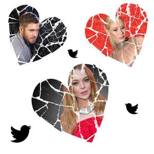 Calvin Harris, Lindsay Lohan, Iggy Azalea, Social Media, Breakups