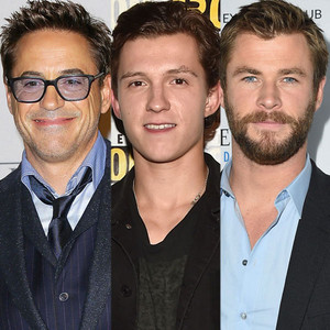 Robert Downey Jr, Tom Holland, Chris Hemsworth