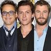 Robert Downey Jr, Tom Holland, Chris Hemsworth