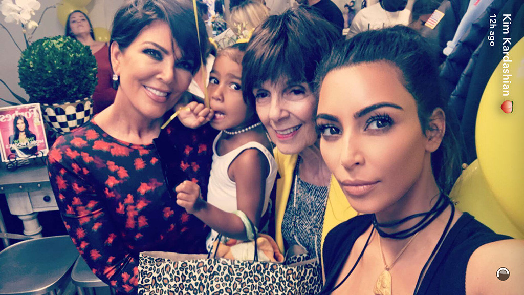 Kris Jenner, North West, MJ Campbell, Kim Kardashian, Snapchat