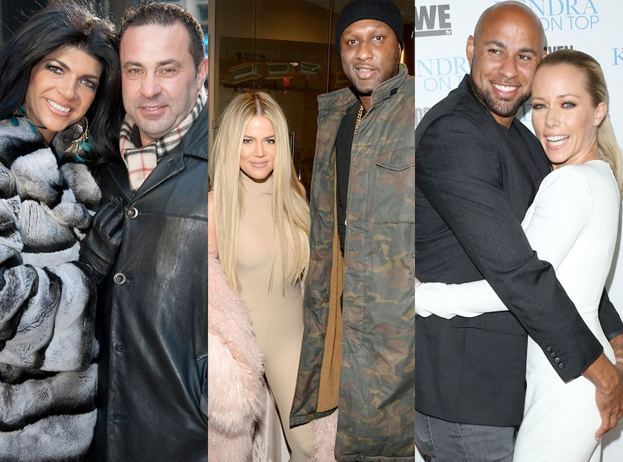 Reality TV Couples, Teresa Giudice, Joe Giudice, Khloe Kardashian, Lamar Odom, Kendra Wilkinson, Hank Baskett