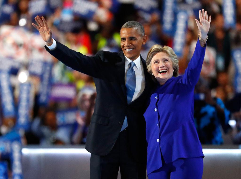 Barack Obama, Hillary Clinton, DNC 2016