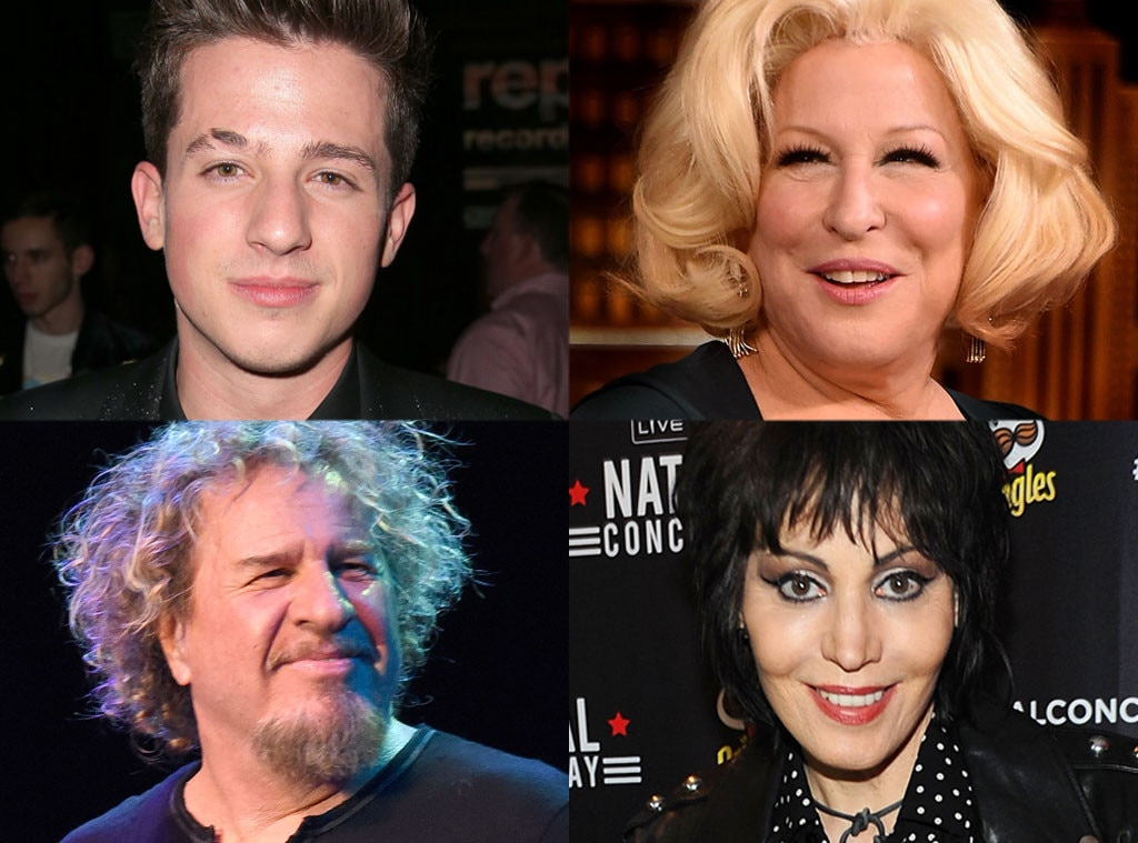 Bette Midler, Joan Jett, Sammy Hagar, Charlie Puth, The Voice