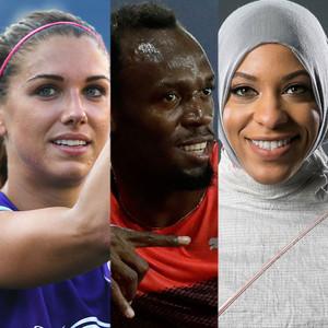 Alex Morgan, Usain Bolt, Ibtihaj Muhammad, Buzzed About Olympians