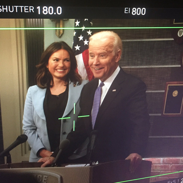 Joe Biden, Mariska Hargitay, Law and Order: SVU