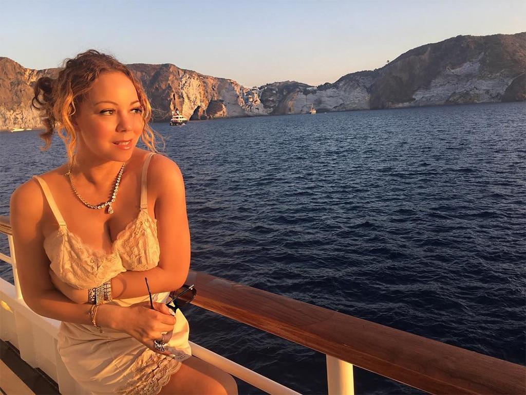 Mariah Carey, Yacht, Italy Vacation