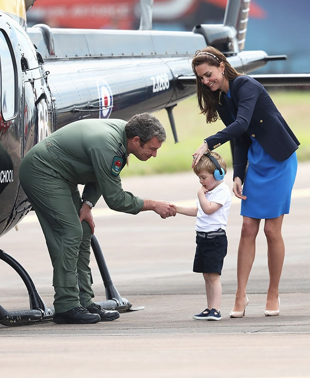 Pilot Vi Home: Kate Middleton And Prince William Take Prince George To