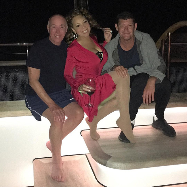 Mariah Carey, James Packer, David Geffen, Yacht, Italy Vacation