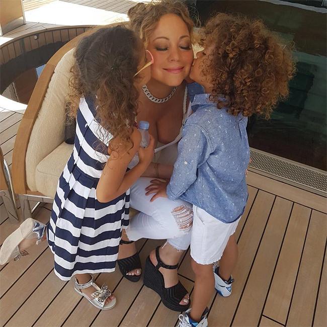 Mariah Carey, Twins Moroccan, Monroe, Yacht, Italy Vacation