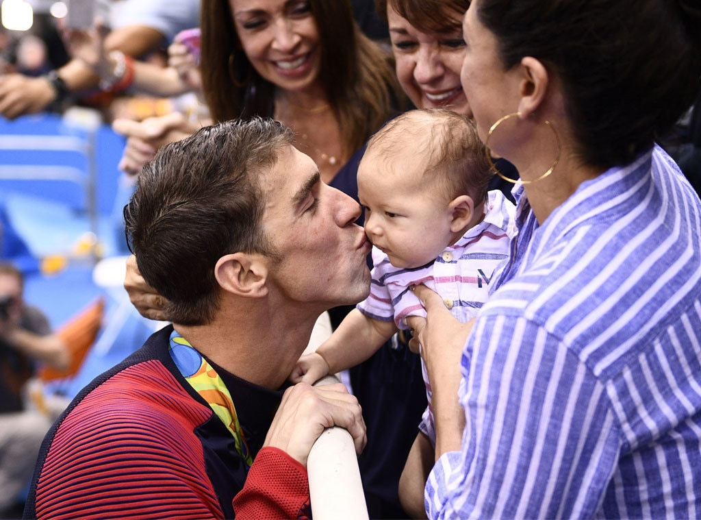 Michael Phelps, Boomer, Nicole Johnson, 2016 Summer Olympics Rio, 200 butterfly