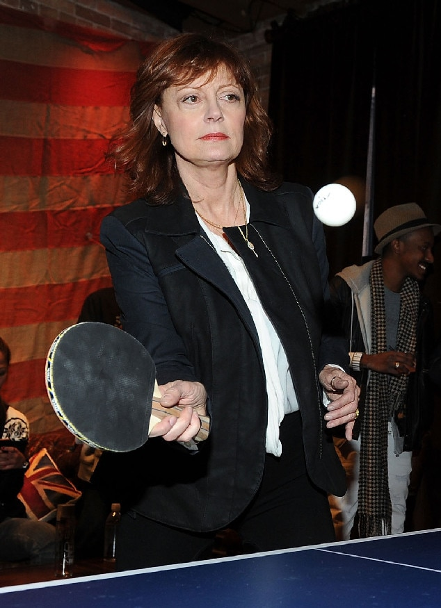 Celebs as Olympians, Susan Sarandon