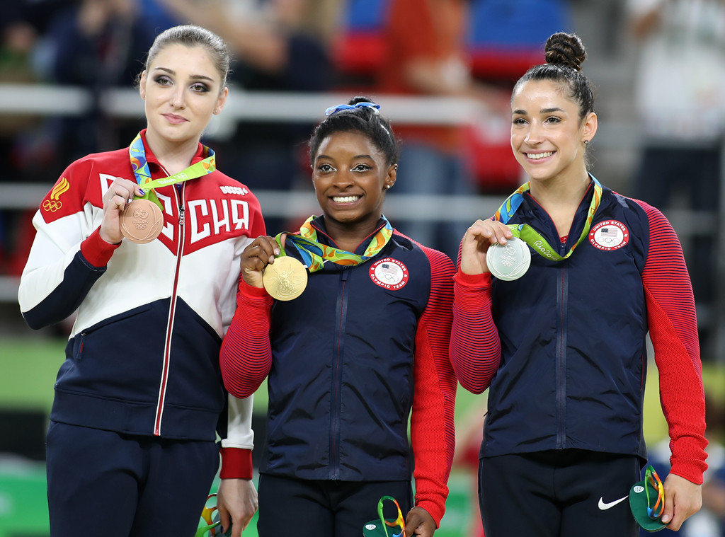 Aliya Mustafina, Simone Biles, Aly Raisman, Olympics, 2016 rio