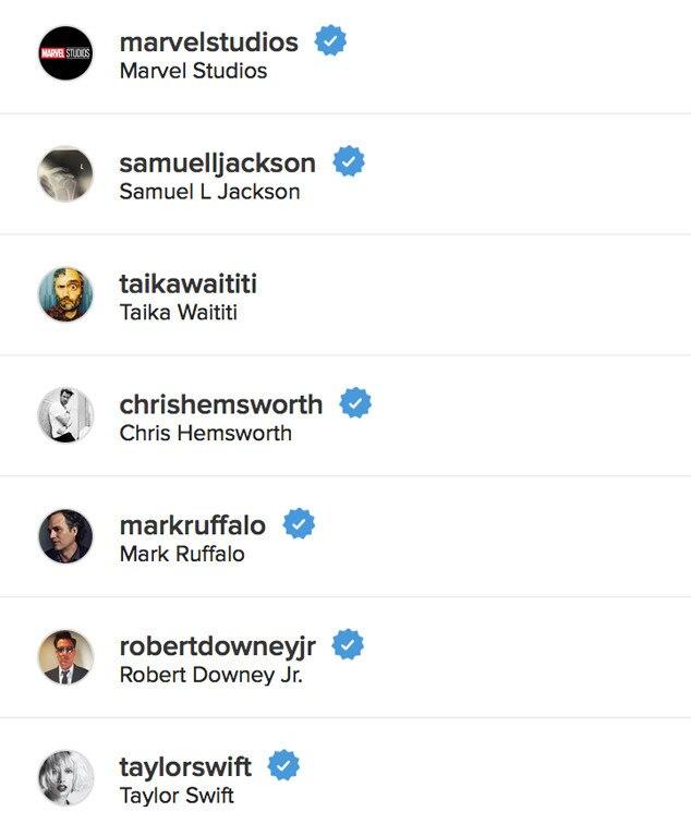 Tom Hiddleston Following Taylor Swift on Instagram