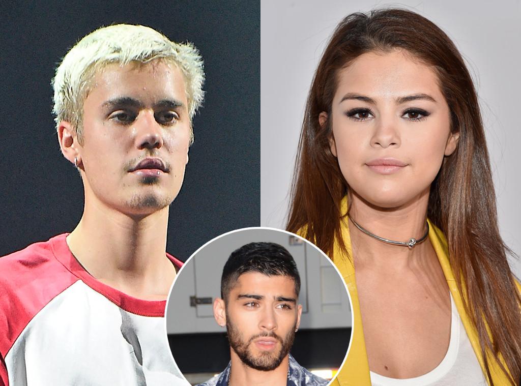 Justin Bieber, Selena Gomez, Zayn Malik