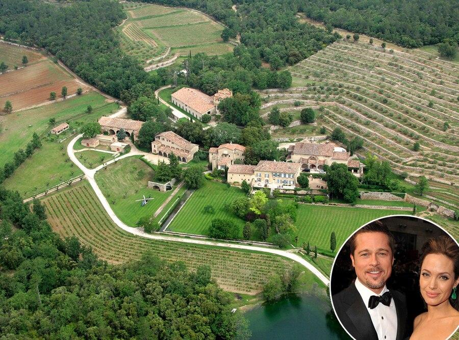 Brad Pitt, Angelina Jolie, Chateau Miraval, Celeb Homes