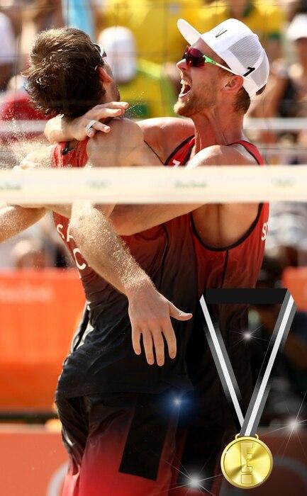 E! Olympic Medals, Ben Saxton, Chaim Schalk