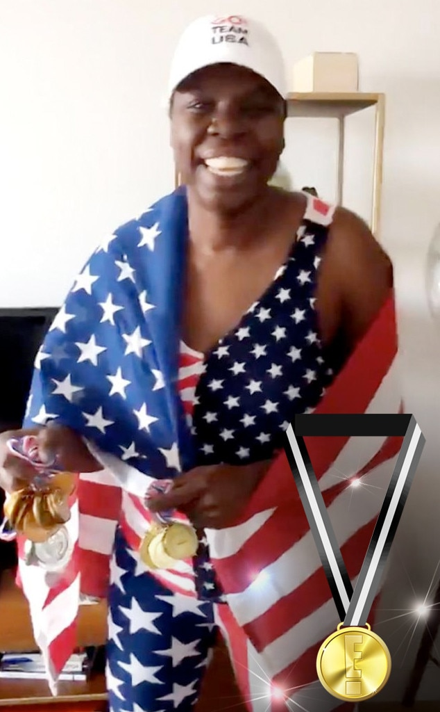 E! Olympic Medals, Leslie Jones