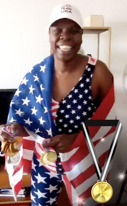 E! Olympic Medals, Leslie Jones