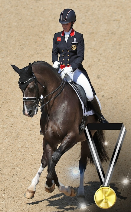 E! Olympic Medals, Dressage Horse