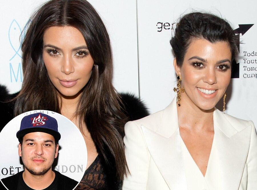 Kim Kardashian, Rob Kardashian, Kourtney Kardashian
