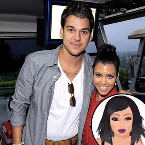 Kim Kardashian, Kimoji, Rob Kardashian, Kourtney Kardashian