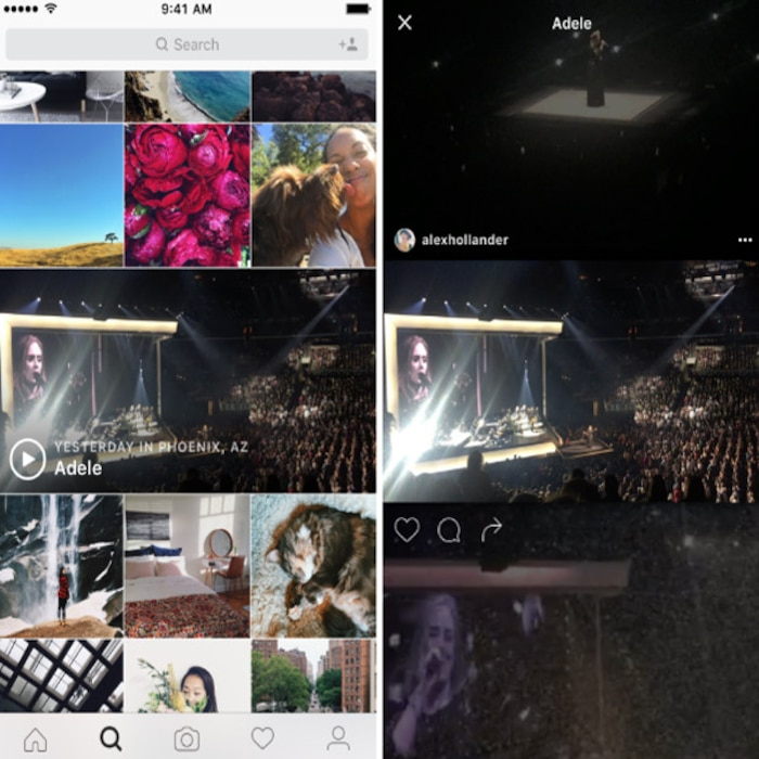 Instagram, Event Channels