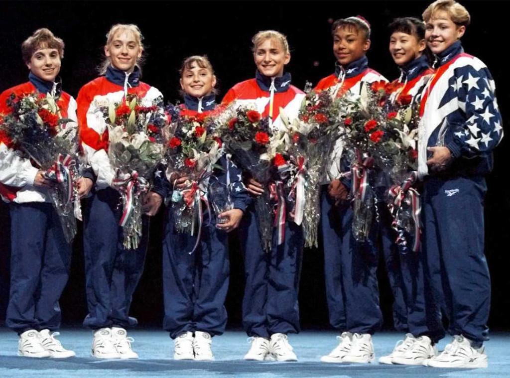 Magnificent Seven, Olympics, Amanda Borden, Dominique Dawes, Amy Chow, Jaycie Phelps, Shannon Miller, Dominique Moceanu, Kerri Strug