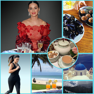 Celebrities on Vacation, Kim Kardashian, Kate Hudson, Katy Perry, Anne Hathaway
