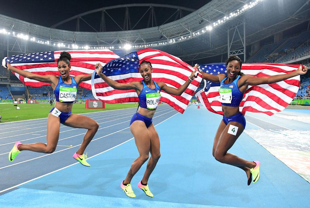 Kristi Castlin, Brianna Rollins, Nia Ali, 2016 Rio Olympics