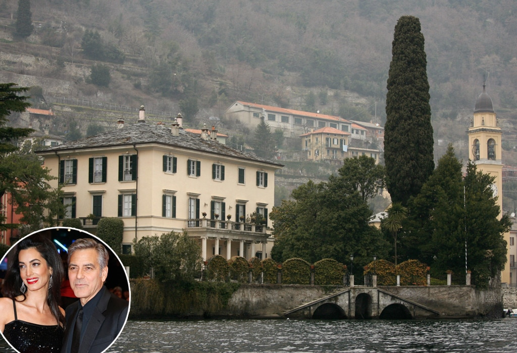 George Clooney, Lake Como Home, Celeb Home