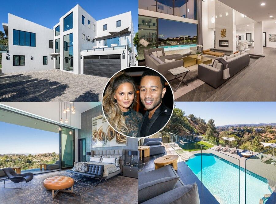 Chrissy Teigen, John Legend, Celeb Homes, Celebrity Couple Real Estate