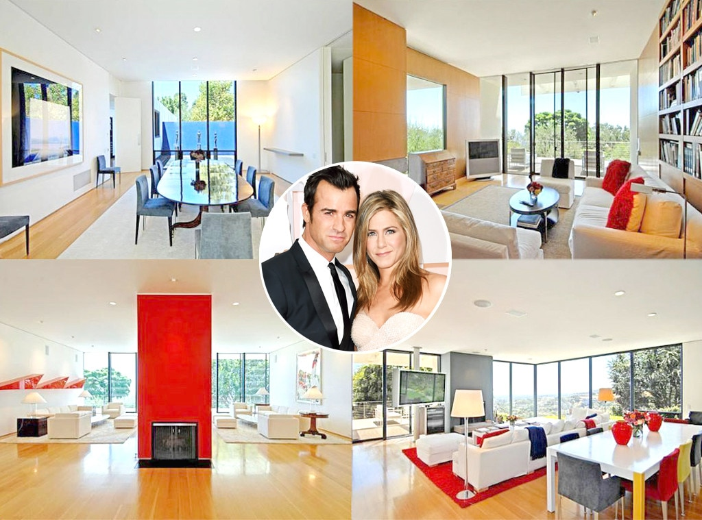 Jennifer Aniston, Justin Theroux Beverly Hills Home, Celeb Homes, Celebrity Couple Real Estate