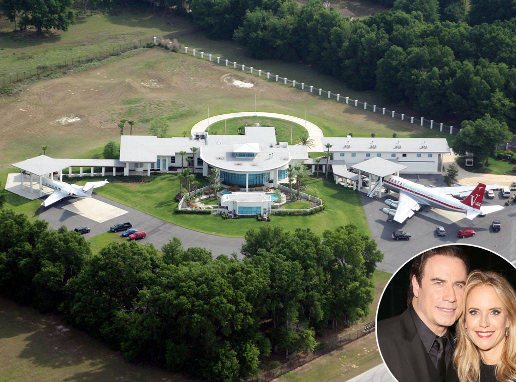 John Travolta, Kelly Preston, Ocala, Florida, Celeb Home