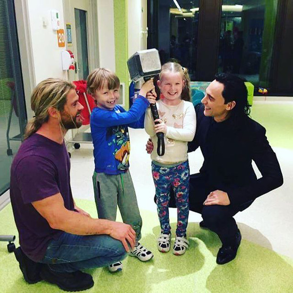 Tom Hiddleston, Chris Hemsworth, Instagram