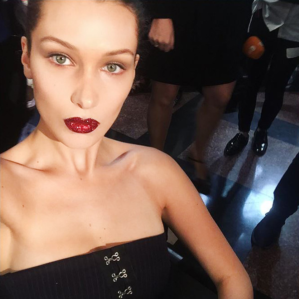 ESC: Bella Hadid, Pat McGrath Lust 004 Lip Kit