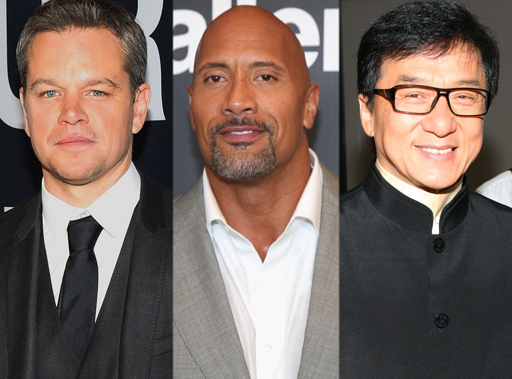 Matt Damon, Dwayne Johnson, Jackie Chan