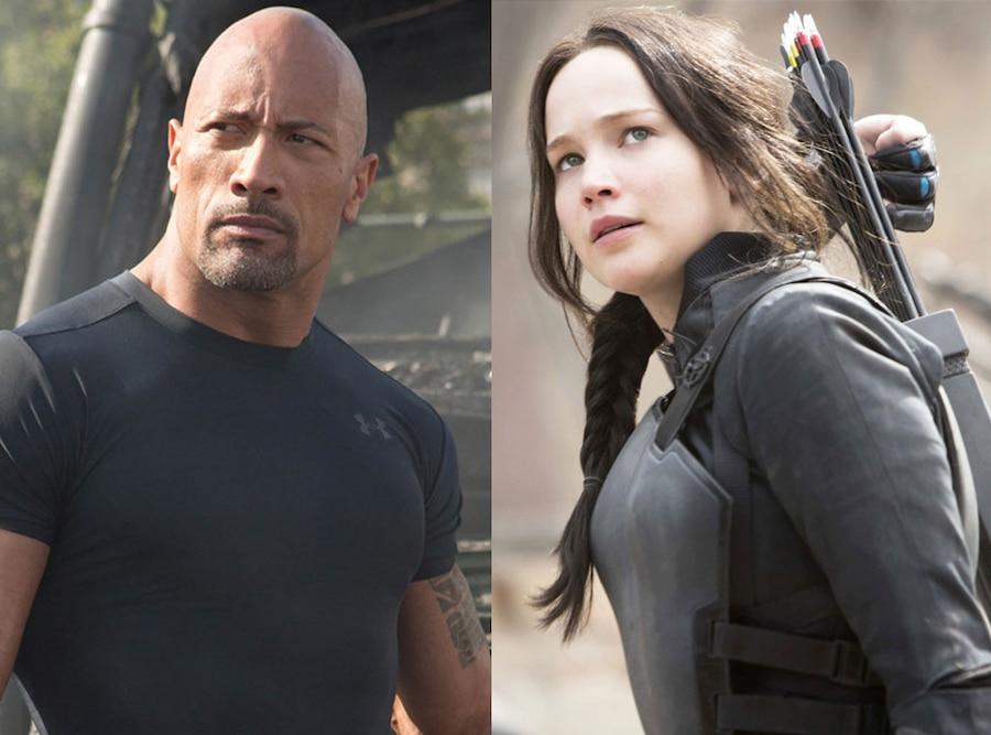 Dwayne Johnson, Furious 7, Jennifer Lawrence, Hunger Games Mockingjay Part 2