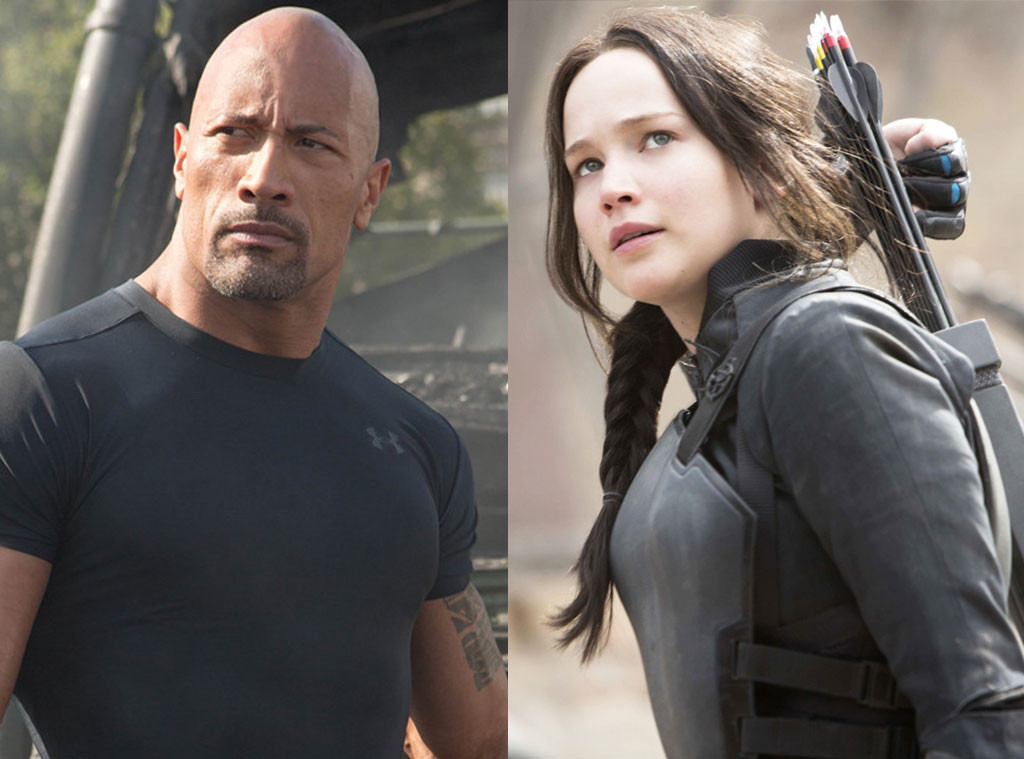Dwayne Johnson, Furious 7, Jennifer Lawrence, Hunger Games Mockingjay Part 2
