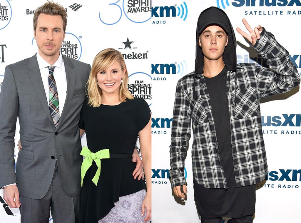 Famous Celebrity Neighbors, Justin Bieber, Kristen Bell, Dax Shephard