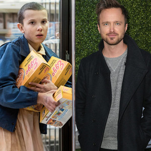 Stranger Things, Millie Bobby Brown, Aaron Paul
