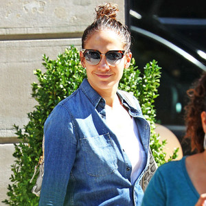 Jennifer Lopez All Smiles in New York City After Casper Smart Split