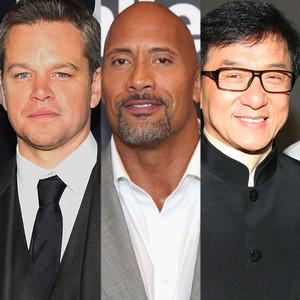 Matt Damon, Dwayne Johnson, Jackie Chan