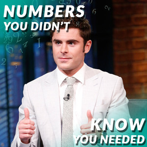 Numbers You Didn't Know You Needed, Zac Efron