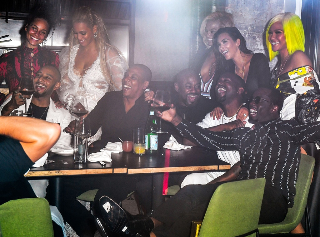 Alicia Keys, Swizz Beatz, Beyonce, Jay-Z, Kanye West, Kim Kardashian, Sean Diddy Combs, Cassie