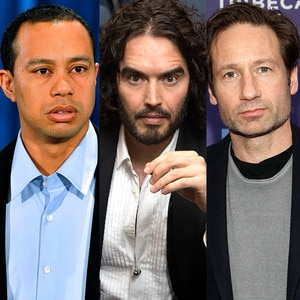 Tiger Woods, David Duchovny, Russell Brand