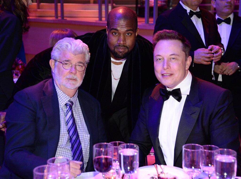 George Lucas, Kanye West, Elon Musk