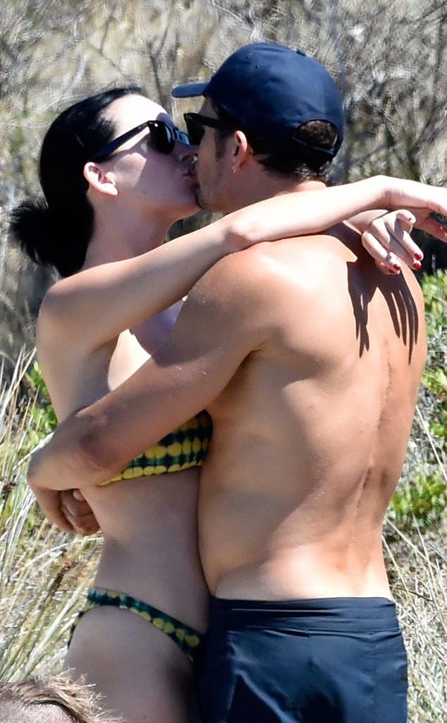 Orlando Bloom y Katy Perry vacaciones vintage
